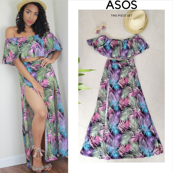80a7103a2 ASOS Petite Crop Top+Maxi Beach | Summer Skirt Set.  M_5bc2223daa8770b2ebea9bbf